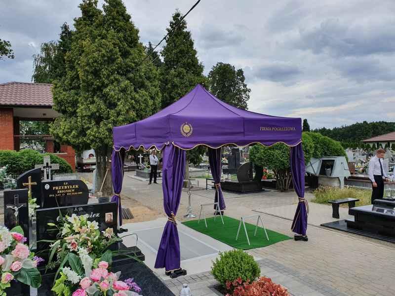 Namiot firma pogrzebowa MAJ